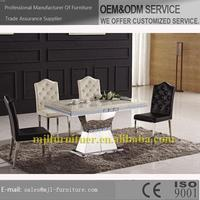 Design top sell acrylic marble dining tables