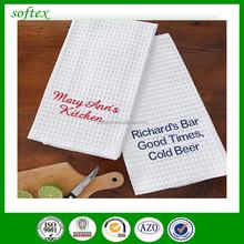 cotton waffle weave kitchen towels wholesale / cotton tea towel bulk