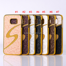 Wholesale New Design Bling S Football Grain Plating Chrome Hard Case Cover for samsung Galaxy S6