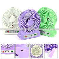 Rechargeable Emergency Fan With Lightrechargeable Electric Fan