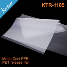 Clear release film for screen printing