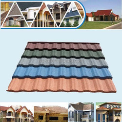 roofing tiles colorful stone coated steel roof tile