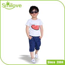 2015 newest cheap price summer baby shirt pattern watermelon children Korean fashion t shirt