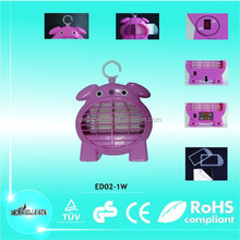Cute safe child hanging LED fly & mosquito glue trap