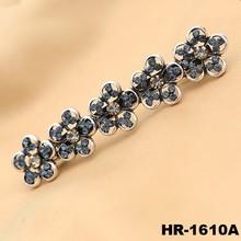 Retro flower hair clip plain metal barrettes wholesale hairpins for hair accessories