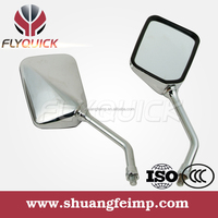 ZF001-27 FLYQUICK motorcycle chrome side view mirror glass for HONDA CM 125