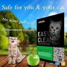 Pet Cleaning&Grooming Products 5L APPLE odd shaped bentonite pet litter bulk