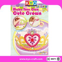 Children beautiful DIY paper crown craft