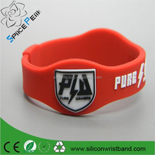 Paypal accepted high quality Custom energy armor bracelet with negative ions bands