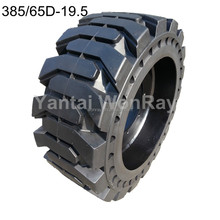 385 / 65D-19.5 Skid Steer Solid Tyre, Wheel Assembled