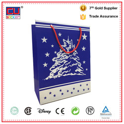 Made in china Accept custom order advertising paper bag with handles