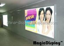 hot sale new design advertising LED tattoo light box aluminum backlit poster box frame