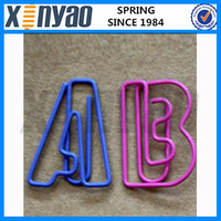 2015 NEW Arrived metal color Customer logo shape unique Letter B shape paper clips