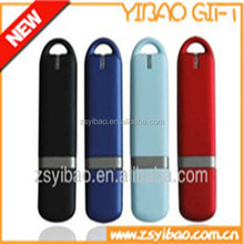 Plastic USB flash driver with key ring metal clip