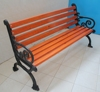 Private outdoor patio cheap cast iron simple wooden bench design