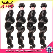 New products wholesale loose wave brazilian virgin hair extension