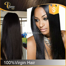 Special Price 6A Top Grade Silky No Shedding indian remy gray hair full lace wig