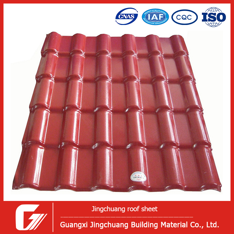 Bamboo Roof Tiles Plastic Roofing Panel Synthetic Resin