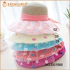 Straw Hat Decorate,Fashion Ladies Colorful Dot Lace Paper Woven Paper