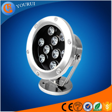 China CE ROHS approved swimming pool led light lamp waterproof ip68 multi color underwater led lights for fountains and aquarium