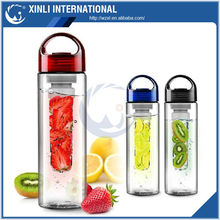 700ml bpa free tritan fruit infuser/lemon cap water bottle