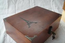 botany brown wooden storage box