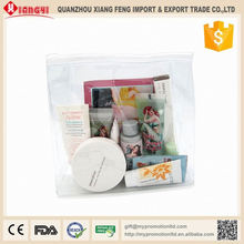 Daily use clear makeup plastic bag travel