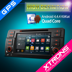 "XTRONS PF7346BA 7"" Android 4.4.4 Kitkat Quad-Core touchscreen 1 din 7 inch car dvd player for bmw with CANbus Wifi 3G GPS"