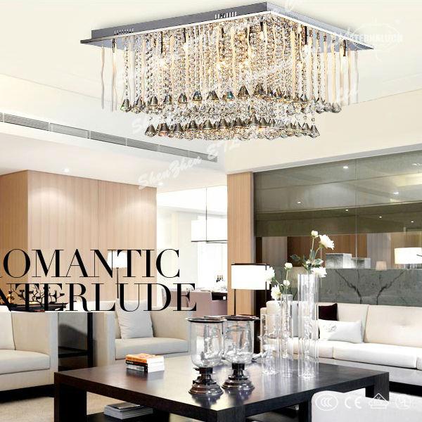 si belle moderne plafond de cristal lampes de d coration pour un salon etl60016 plafonnier id du. Black Bedroom Furniture Sets. Home Design Ideas