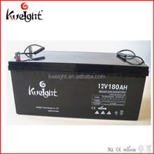 Low power off grid solar battery 12V 180AH deep cycle battery