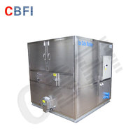 2000kg normal power square ice cube maker