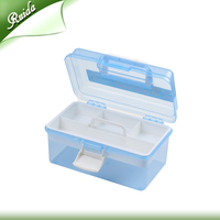 Durable Portable Plastic Waterproof Organizer Storage Tool Box with removable inner tray Manufacturer