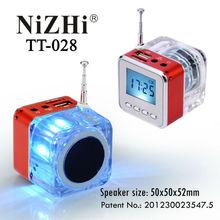 2014 new products mini portable speakers for mobile phones NiZHi TT-028