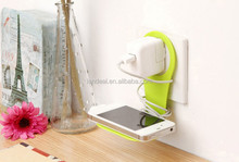 Mobile Cell Phone wall Charger Holder Hangs phone holder wall