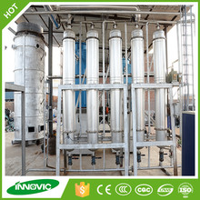 Waste motor oil to diesel fuel plant by distillation plant