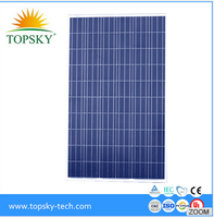 Hottest selling 30V high efficiency cheap price 250W Poly solar panel/module