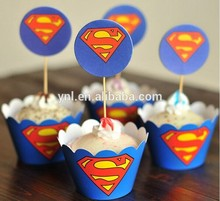 Nueva ducha linda de la fiesta de cumpleaños de papel Cake Toppers