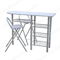 white color MDF top bar table set