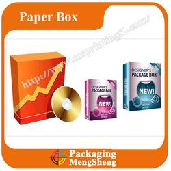 CD, VCD, DVD paper software Packaging Box