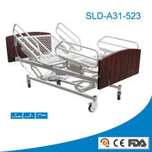 wooden panel and four pieces rail home caring bed at lowest price