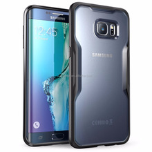 ultra-slim shockproof flexible TPU silicone bumper clear hard PC back case cover for samsung galaxy S6 edge