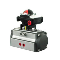Pipeline air control valve actuator with position indicator