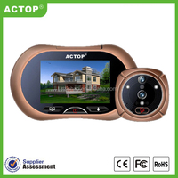 """2015 ACTOP electronic products 3.7"""" HD LCD, touch screen best peephole viewer with night vision"""
