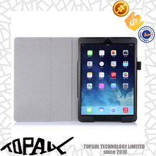 leather cover case for ipad air 2, custom smart cover case with PC back cover for tablet