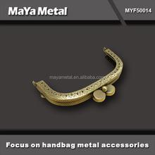 Custom fashion antique copper clutch purse metal frame