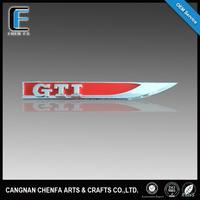 Custom 3D ABS decorative luxury GTI chrome car badge emblem for VW