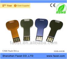 2015 Free samples hot selling metal key usb flash drive 4GB ~64GB