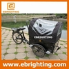 Environment-friendly cheap double seat tricycle bike with cabin front