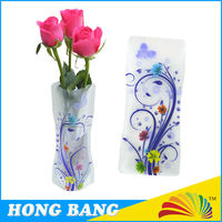 Factory direct sell gift PVC plastic collapsible vase