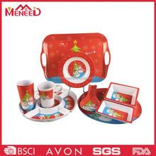 Hot design holiday producs plastic melamine Christmas dinnerware